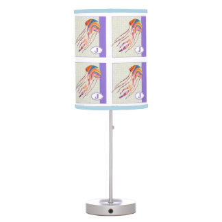 J is for JELLYFISH Alphabet Block Table Lamp