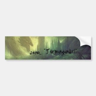 J is for Jörmungandr! Bumper Sticker