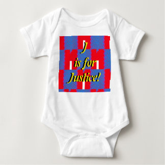 J is for Justice Baby Bodysuit