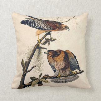 J.J. Audubon (Red Shouldered Hawk) (1829) Throw Pillow