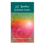 J.J. Youhoo Substitute Teacher Pack Of Standard Business Cards