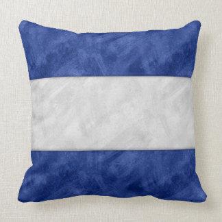 J Juliet Watercolor Nautical Signal Maritime Flag Throw Pillow