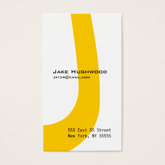 J Letter Alphabet Business Card Orange