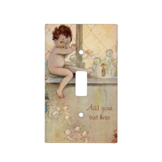 J.M. Barrie's Peter Pan at window with fairies Light Switch Cover