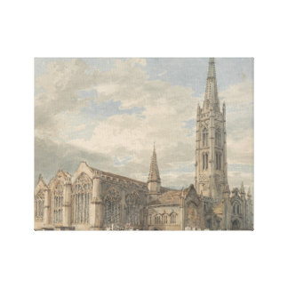 J. M. W. Turner -  North East View of Grantham Canvas Print