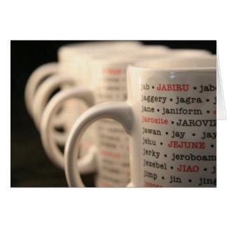 """""""J"""" Mug Card"""