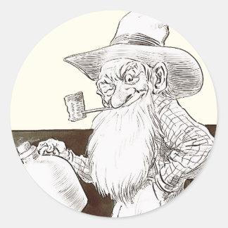 J P Bernard Moonshiner (Sepia) Round Sticker