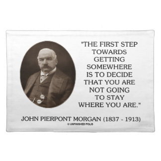 J.P. Morgan First Step Towards Getting Somewhere Placemat