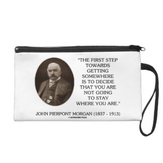 J.P. Morgan First Step Towards Getting Somewhere Wristlet Clutches