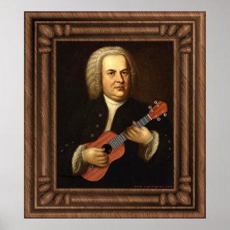 J.S. Bach on Uke Poster