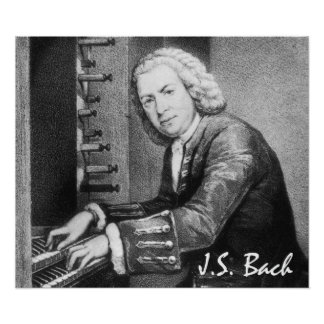 J.S. Bach Portrait on Canvas Print
