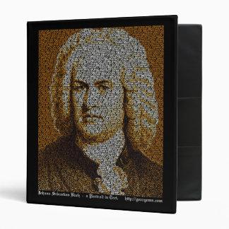 J.S. Bach Text Portrait Binder