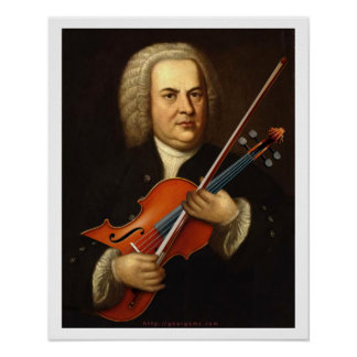 J.S. Bach with a Viola Poster