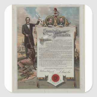 J. S. Smith & Co. copy Emancipation Proclamation Square Sticker
