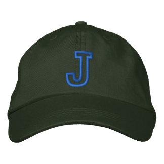 """""""J"""" Small Athletic Letter Baseball Cap"""