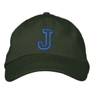 """""""J"""" Small Athletic Letter Embroidered Hat"""
