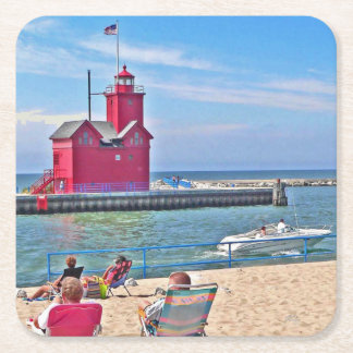 J Spoelstra Big Red Summer Coasters
