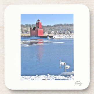 J Spoelstra Big Red Swans Coasters