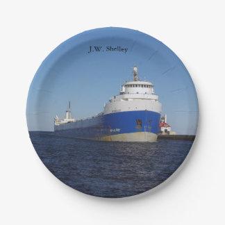 J.W. Shelley paper plate