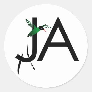 JA Dr Bird Classic Round Sticker