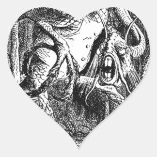 Jabberwocky Heart Sticker