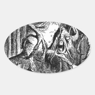 Jabberwocky Oval Sticker