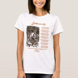 Jabberwocky Poem by Lewis Carroll (Black Adder) T-Shirt