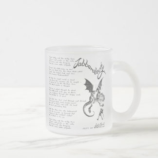 Jabberwocky Poem Frosted Glass Coffee Mug