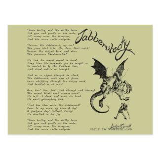 Jabberwocky Poem Postcard