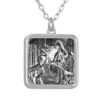 Jabberwocky Silver Plated Necklace