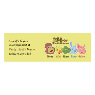 Jabloo Birthday Party Guest Card Mini Business Card