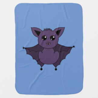Jac the Bat Flying by night Baby Blanket