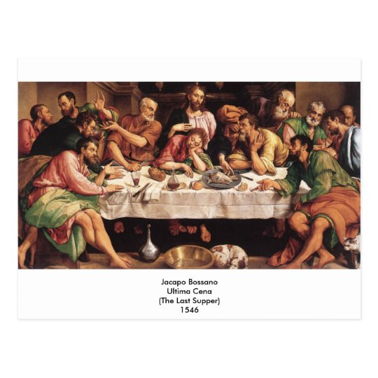 Jacapo Bossano - Ultima Cena (Last Supper), 1546 Postcard