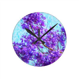 Jacaranda Bright Bloom Clocks