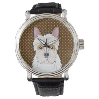 Jack-a-Poo Dog Cartoon Paws Wrist Watch