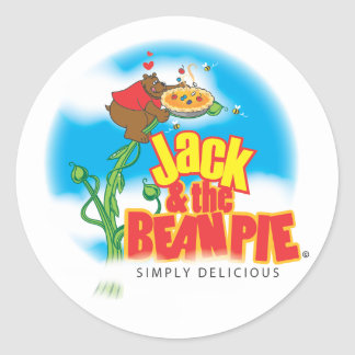 JACK AND BEAN PIE LOGO FINAL APRIL 27 CLASSIC ROUND STICKER