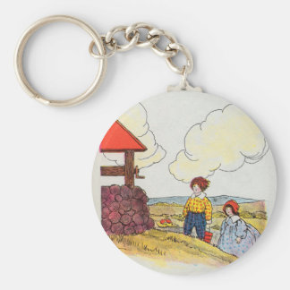 Jack and Jill went up the hill Basic Round Button Keychain