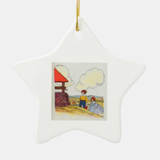 Jack and Jill went up the hill Ceramic Star Ornament