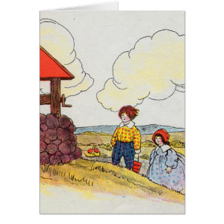 Jack and Jill went up the hill Greeting Card