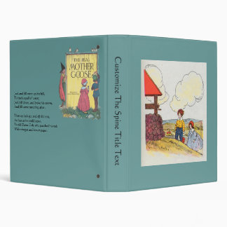 Jack and Jill went up the hill Vinyl Binder