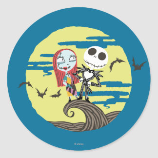 Jack and Sally | Cute Moon Classic Round Sticker