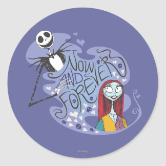 Jack and Sally - Now and Forever Classic Round Sticker