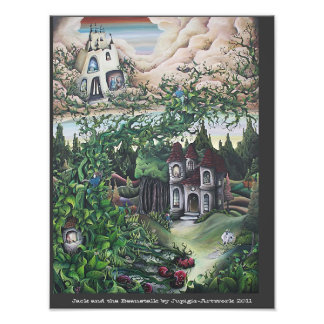Jack and the Beanstalk painting Photographic Print
