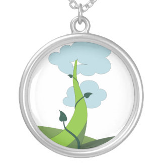 Jack and the Beanstalk Silver Plated Necklace