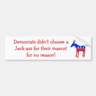 Jack-ass mascot car bumper sticker