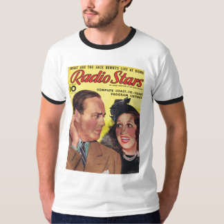 Jack Benny Mary Livingston RADIO STARS 1938 T-Shirt