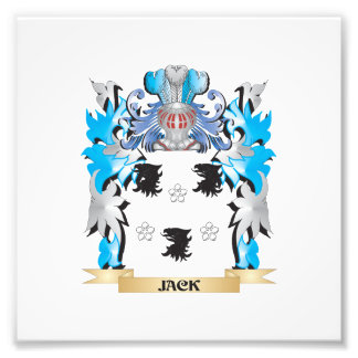 Jack Coat of Arms - Family Crest Photographic Print