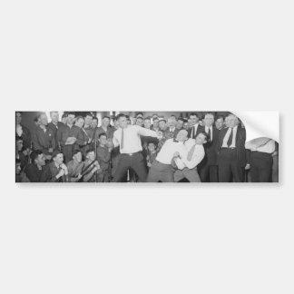 Jack Dempsey Mock Fighting Against Harry Houdini Bumper Sticker