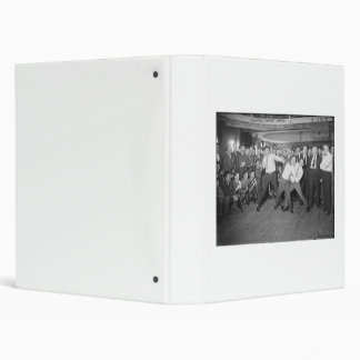 Jack Dempsey Mock Fighting Against Harry Houdini Vinyl Binder