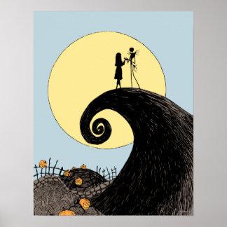 Jack et sortie tenant des mains sous la lune